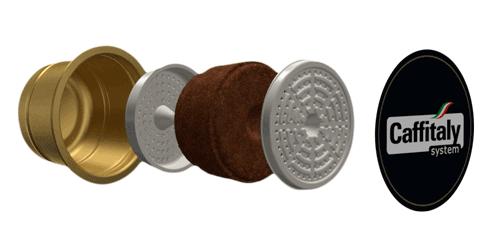 Caffitaly capsules gepatenteerde pre-infusie en dubbel zeefsysteem