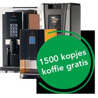 koffieautomaat 1500 kopjes koffie gratis