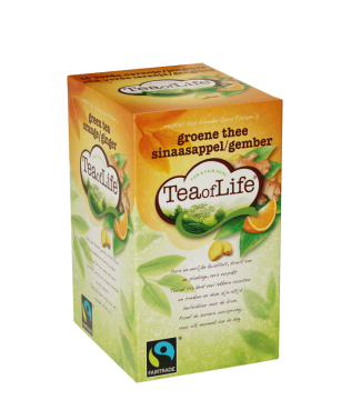 Fairtrade Groene thee Sinaasappel/gember